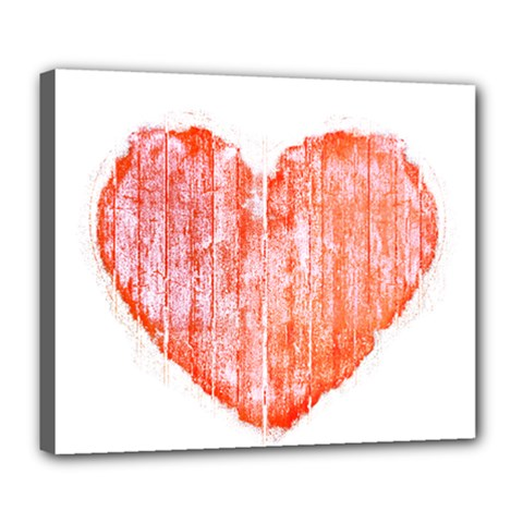 Pop Art Style Grunge Graphic Heart Deluxe Canvas 24  x 20