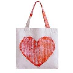 Pop Art Style Grunge Graphic Heart Grocery Tote Bag