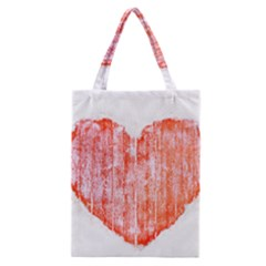 Pop Art Style Grunge Graphic Heart Classic Tote Bag