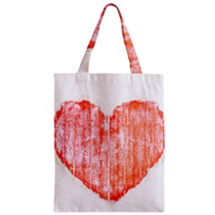 Pop Art Style Grunge Graphic Heart Zipper Classic Tote Bag