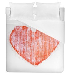 Pop Art Style Grunge Graphic Heart Duvet Cover (Queen Size)