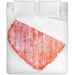 Pop Art Style Grunge Graphic Heart Duvet Cover (California King Size)