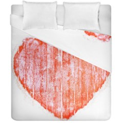 Pop Art Style Grunge Graphic Heart Duvet Cover Double Side (California King Size)