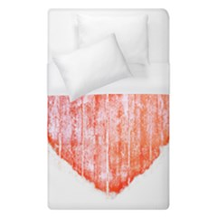 Pop Art Style Grunge Graphic Heart Duvet Cover (Single Size)