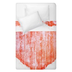 Pop Art Style Grunge Graphic Heart Duvet Cover Double Side (Single Size)