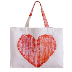 Pop Art Style Grunge Graphic Heart Medium Zipper Tote Bag