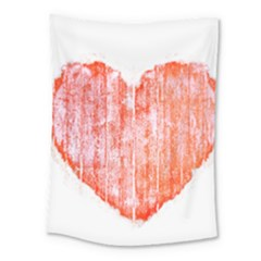 Pop Art Style Grunge Graphic Heart Medium Tapestry