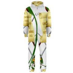 National Emblem of Guatemala  Hooded Jumpsuit (Men)