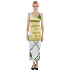 National Emblem of Guatemala Fitted Maxi Dress