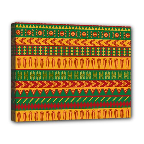 Mexican Pattern Canvas 14  X 11