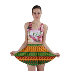 Mexican Pattern Mini Skirt