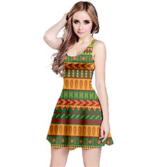 Mexican Pattern Reversible Sleeveless Dress