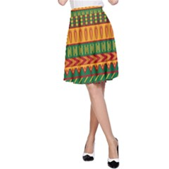 Mexican Pattern A-Line Skirt