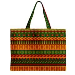 Mexican Pattern Zipper Mini Tote Bag