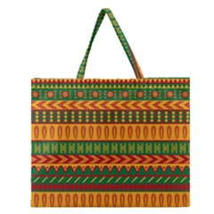 Mexican Pattern Zipper Large Tote Bag