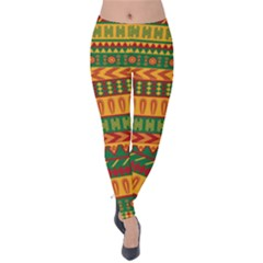 Mexican Pattern Velvet Leggings