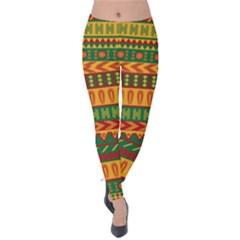 Mexican Pattern Velvet Leggings