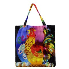 Chinese Zodiac Signs Grocery Tote Bag