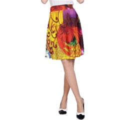 Chinese Zodiac Signs A-Line Skirt