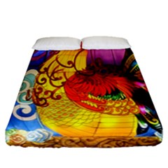 Chinese Zodiac Signs Fitted Sheet (Queen Size)