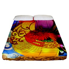 Chinese Zodiac Signs Fitted Sheet (King Size)