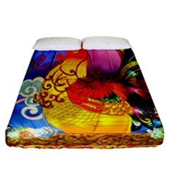 Chinese Zodiac Signs Fitted Sheet (California King Size)