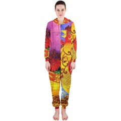 Chinese Zodiac Signs Hooded Jumpsuit (Ladies)