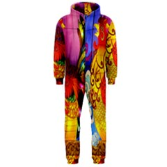 Chinese Zodiac Signs Hooded Jumpsuit (Men)