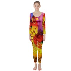 Chinese Zodiac Signs Long Sleeve Catsuit