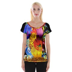 Chinese Zodiac Signs Women s Cap Sleeve Top