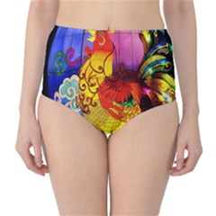 Chinese Zodiac Signs High-Waist Bikini Bottoms