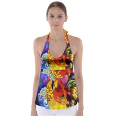 Chinese Zodiac Signs Babydoll Tankini Top