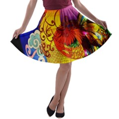 Chinese Zodiac Signs A-line Skater Skirt