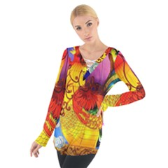 Chinese Zodiac Signs Women s Tie Up Tee