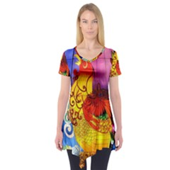 Chinese Zodiac Signs Short Sleeve Tunic