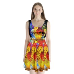 Chinese Zodiac Signs Split Back Mini Dress