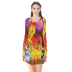 Chinese Zodiac Signs Flare Dress