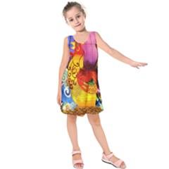 Chinese Zodiac Signs Kids  Sleeveless Dress