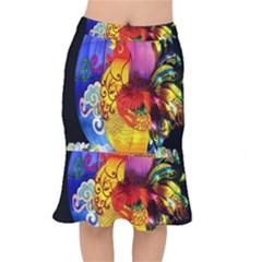 Chinese Zodiac Signs Mermaid Skirt