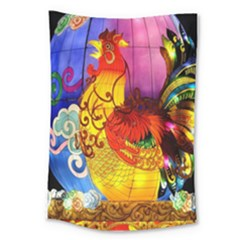 Chinese Zodiac Signs Large Tapestry