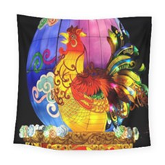 Chinese Zodiac Signs Square Tapestry (large)