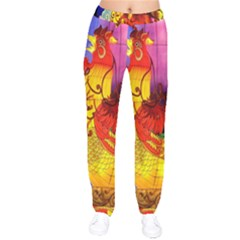 Chinese Zodiac Signs Drawstring Pants