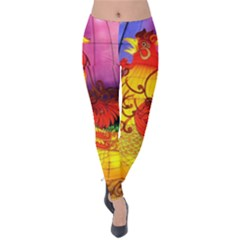 Chinese Zodiac Signs Velvet Leggings