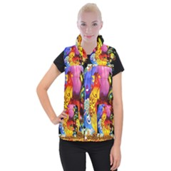 Chinese Zodiac Signs Women s Button Up Puffer Vest