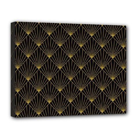 Abstract Stripes Pattern Canvas 14  x 11