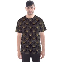 Abstract Stripes Pattern Men s Sport Mesh Tee