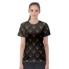 Abstract Stripes Pattern Women s Sport Mesh Tee