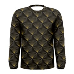 Abstract Stripes Pattern Men s Long Sleeve Tee