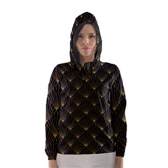 Abstract Stripes Pattern Hooded Wind Breaker (Women)