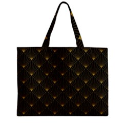 Abstract Stripes Pattern Zipper Mini Tote Bag